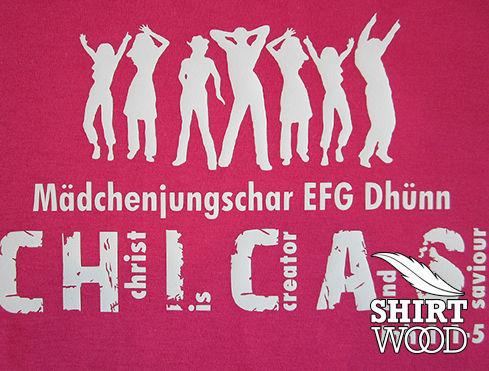 bedrucktes T-shirt für die Jungschar